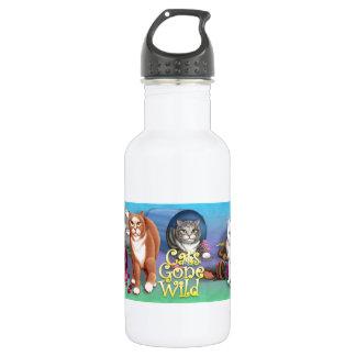 Cats Gone Wild 18oz Water Bottle