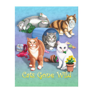 Cats Gone Wild Canvas