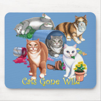 Cats Gone Wild Mouse Pad