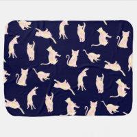 Cat's gradation baby blanket