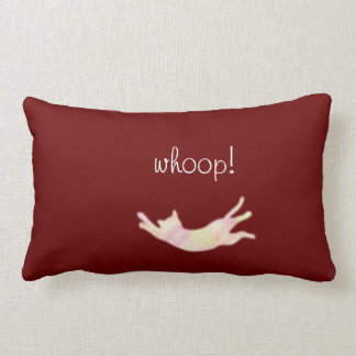 """Cat's gradation """"Check it out!"""" Red cushion Throw  Throw Pillow"""