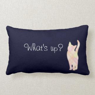 "Cat's gradation ""What's up?"" Blue cushion Throw Pi Throw Pillows"