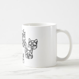 cats. group portrait coffee mug