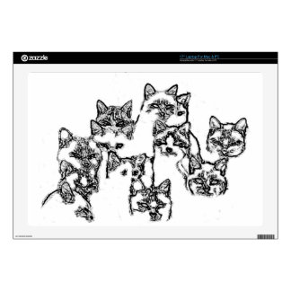 """cats. group portrait skin for 17"""" laptop"""
