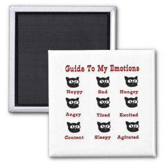 Cats: Guide To My Emotions 2 Inch Square Magnet