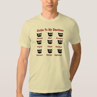 Cats: Guide To My Emotions T-shirt