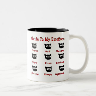 Cats: Guide To My Emotions Two-Tone Coffee Mug