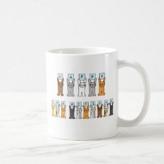 Cats Happy Bar Mitzvah Coffee Mugs