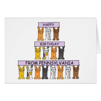 Cats Happy Birthday from Pennsylvania Card