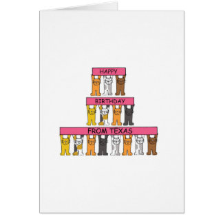 Cats Happy Birthday from Texas Card