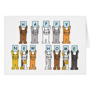 new,or,pet Cats Happy New Home Card