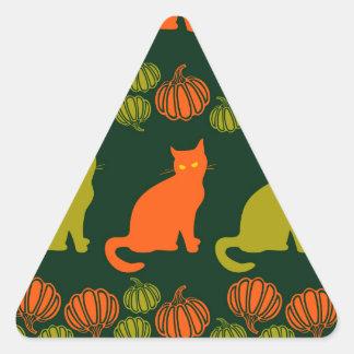 Cat's harvest triangle sticker