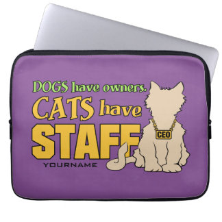 CATS HAVE STAFF custom laptop sleeves