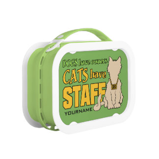 CATS HAVE STAFF custom lunch boxes