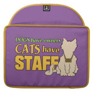 CATS HAVE STAFF custom MacBook sleeves