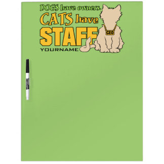 CATS HAVE STAFF custom message board