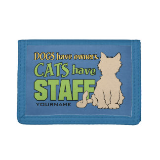 CATS HAVE STAFF custom wallets