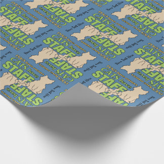 CATS HAVE STAFF custom wrapping paper