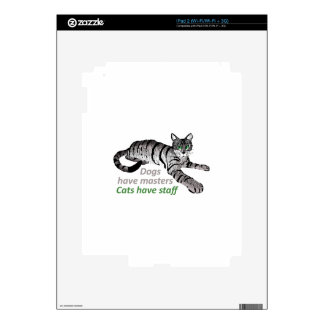 CATS HAVE STAFF DECAL FOR iPad 2