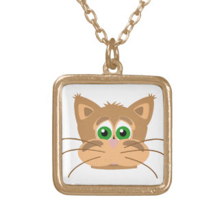 Cat's Head Gold Plated Necklace