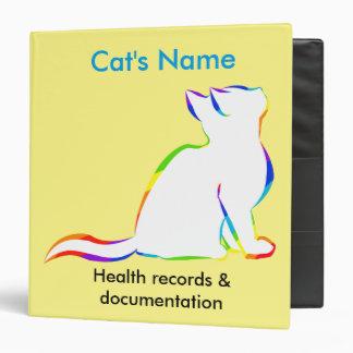 Cat's health documents binder