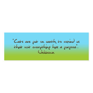 cats humorous quotation bookmark Double-Sided mini business cards (Pack of 20)