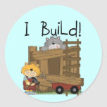 Cats I Build Tshirts and Gifts Round Stickers