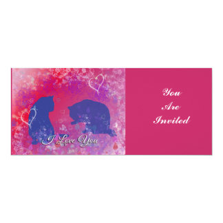 Cats: I Love You Two Cats in a Valentine Type Set Card