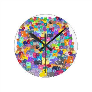 Cats image.jpg round clock