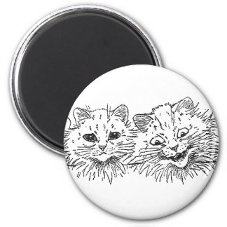 Cats in a Row 2 Inch Round Magnet