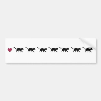 Cats in a row bumper sticker