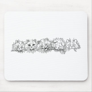 Cats in a Row Mouse Pad