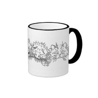 Cats in a Row Ringer Mug