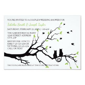 Cats in a Tree - 3x5 Couple's Wedding Shower Card