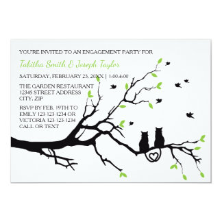 Cats in a Tree - Engagement Party Invitation