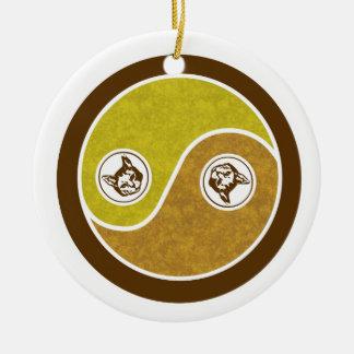 Cats in Balance 1 Yin Yang Ornament