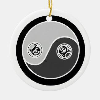 Cats in Balance 2 Yin Yang Ornament