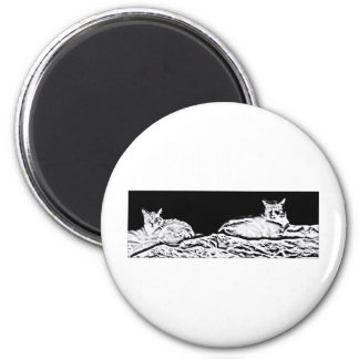 Cats in Black and White Magnet