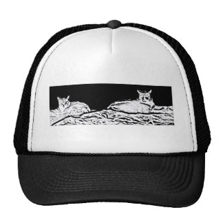 Cats in Black and White Trucker Hat