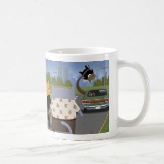 Cats in Black Coffee Mug