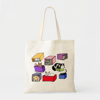 Cats in Colorful Boxes Bag