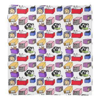 Cats in Colorful Boxes Bandanna