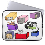 Cats in Colorful Boxes Laptop Sleeve