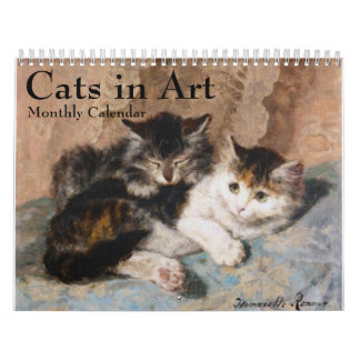 Cats in Fine Art Monthly Calendar