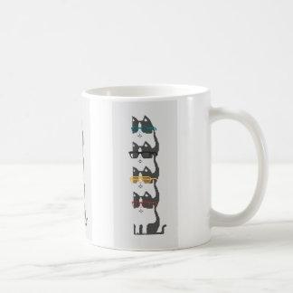 Cats In Glasses Pile Pixel Art Mug