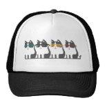 Cats In Glasses Row Pixel Art Hat