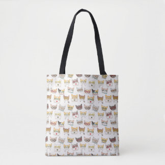 Cats in Glasses Tote Bag