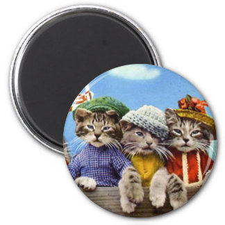 Cats in Hats Magnet