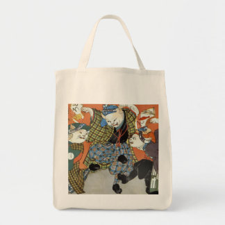 Cats in Kilts Grocery Tote Bag