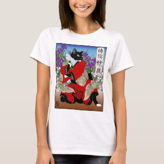 Cats in Kimono: Samurai Gardeners -- Moths T-Shirt